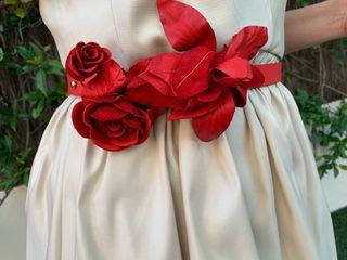 Cinturón flores rojo Etxart & Panno