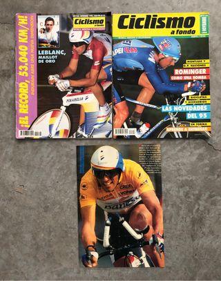 Revistas ciclismo 25 años. Indurain y Rominguer