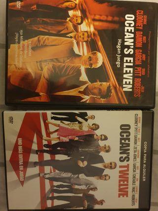 Pack DVD Oceans Eleven y Oceans Twelve