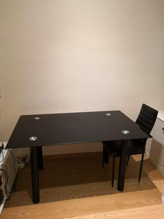 Mesa de cristal de comedor