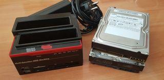 Pack disc dur + Docking Station Dual Multifunció