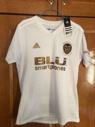 Camiseta Valencia Centenario 2019 Dorada