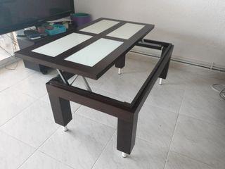Mesa comedor, mesa baja, mesa abatible.