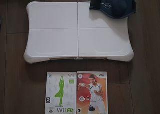 Wii fit con juegos y accesorios