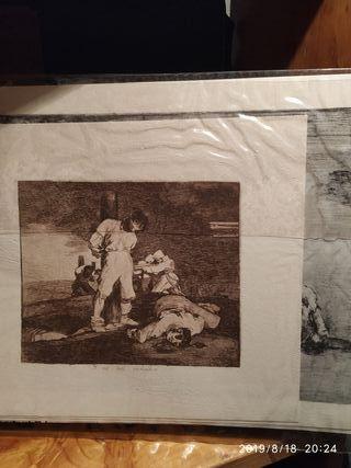 Cuadros, láminas Goya, colección