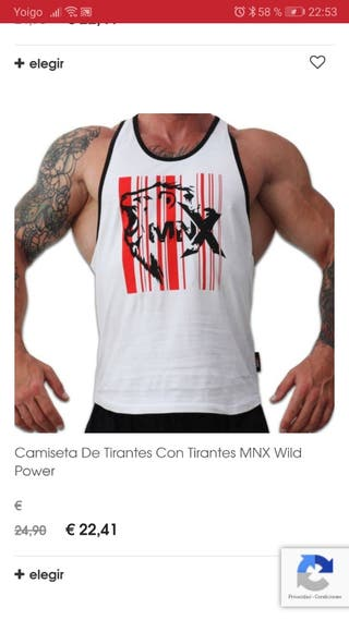 camiseta tirantes gym