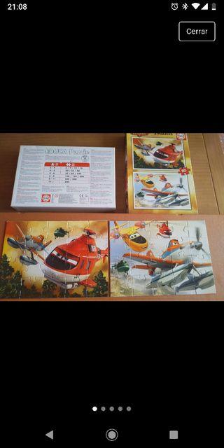 2 puzzles Aviones 2 como NUEVOS