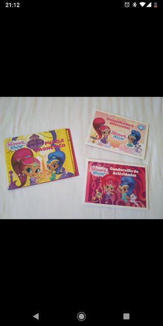 Pack 2 libros + puzzle magnético
