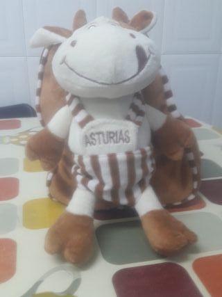 Mochila con vaca de Asturias