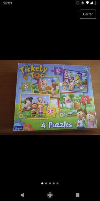 4 puzzles progresivos Tickety Tock