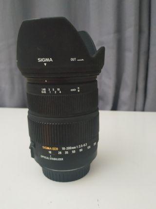 Objetivo SIGMA 18-200 IS para Canon