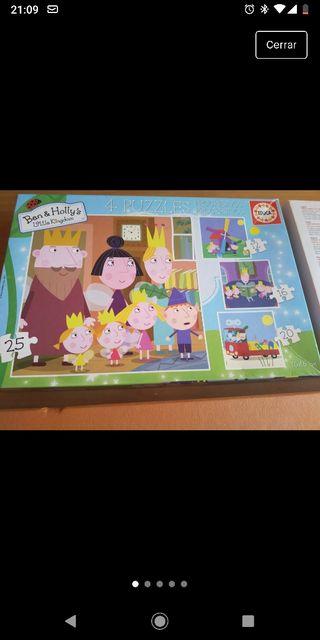 4 puzzles progresivos Ben y Holly