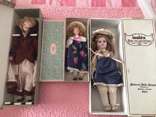 muñecas porcelana Ramón inglés y fanas