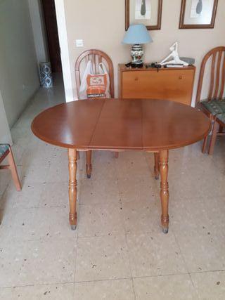 Mesa de comedor extensible + 5 sillas