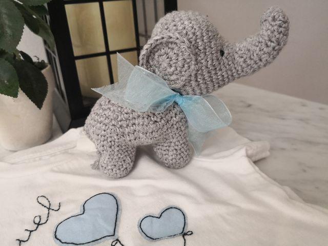 Jouet éléphant bébé Amigurumi crochet / Sonajero elefante crochet ...   480x640