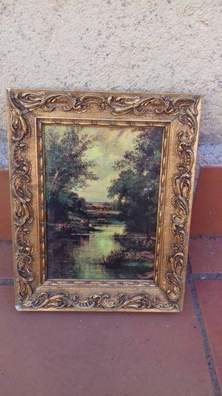 Marco vintage dorado para espejo o cuadro.