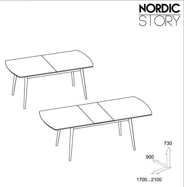 Mesa Comedor Extensible Nordica Madera Roble 100%