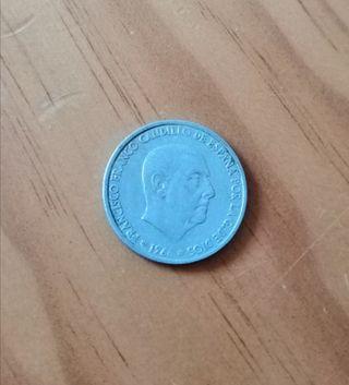 Moneda de Franco 1966