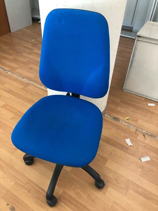 Silla Escritorio de Tela en color azul
