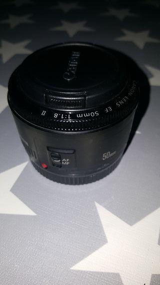 objetivo Canon 50mm 1:1.8 II