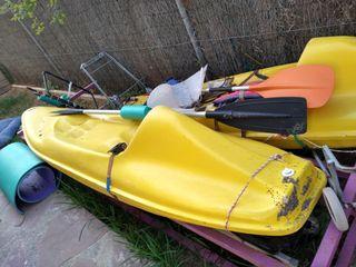 vendo 2 kayak de fibra en buen estado