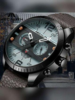 Reloj hombre Megalith negro cronógrafo deportivo NUEVOS Rf: 270