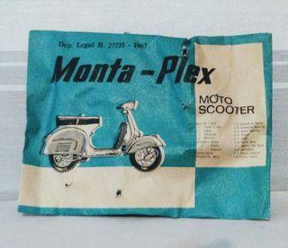 moto scotter monta plex montaplex