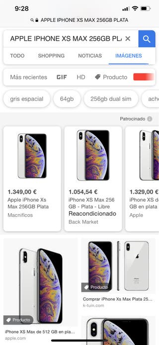 APPLE IPHONE XS MAX 256GB PLATA