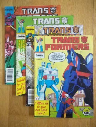 LOTE DE 4 COMICS DE TRANSFORMERS