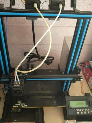 impresora 3D doble extrusor para diferentes materi