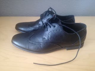 Zapatos Oxford picados negro Asos número 43