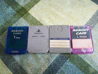 Tarjetas de memoria Ps1 Memory Card Psx