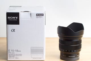 Sony objetivo 10-18mm F/4