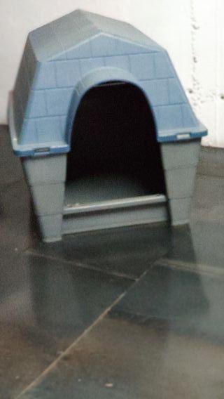 caseta para perro mediano