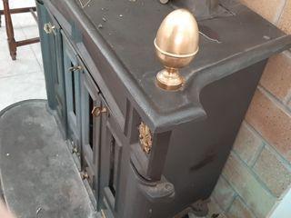 Chimenea estufa de hierro