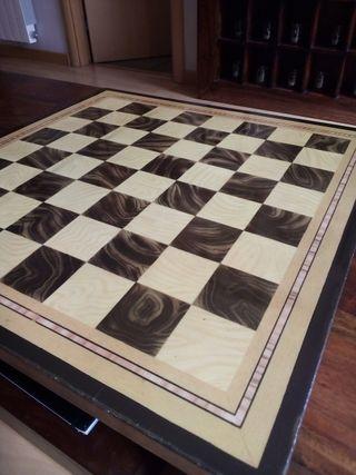 tablero ajedrez madera 49x49