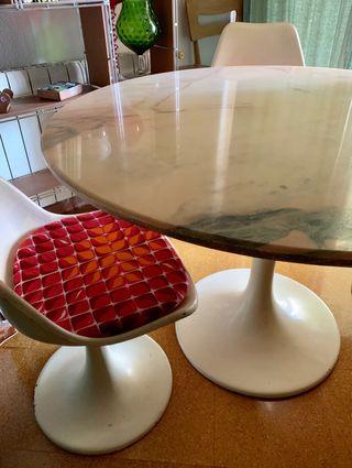 Mesa comedor y sillas Tulip Made in Spain 1966