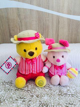 Peluches nuevos Winnie the Pooh y Piglet Disney