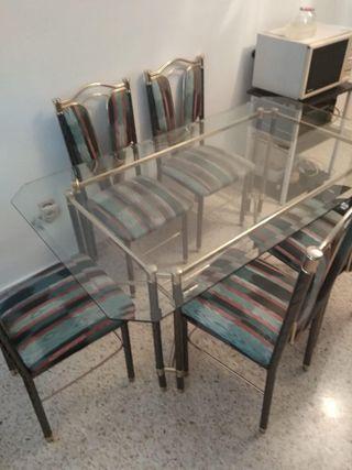 Conjunto mesa+sillas