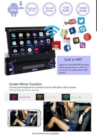 MULTIMEDIA Android 9.0! GPS+WIFI+BLUETOOTH