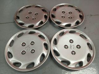 4 Tapacubos Peugeot de 14 pulgadas