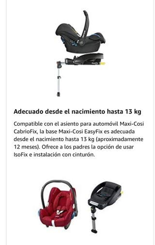 Base Isofix Maxi Cosi easyfix cabriofix