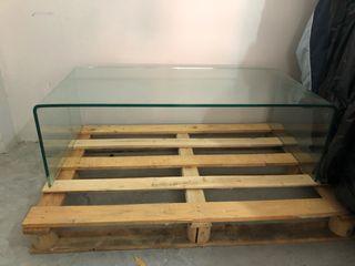 Mesa en cristal templado 150 x60 aprox