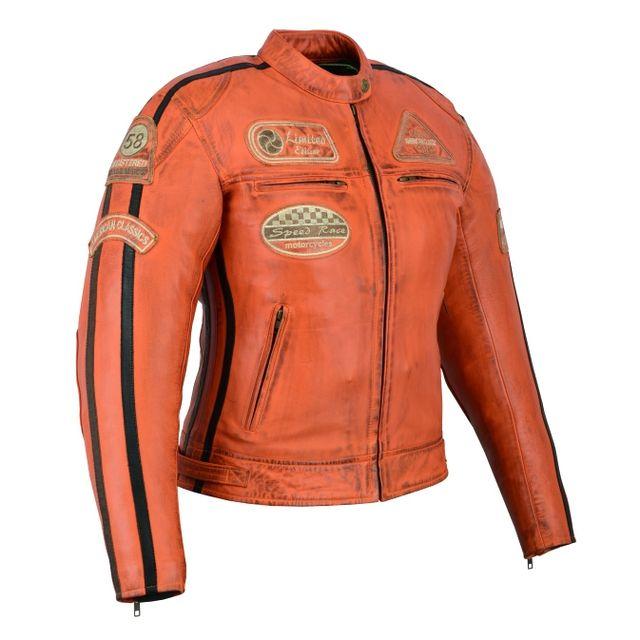 chaqueta piel moto