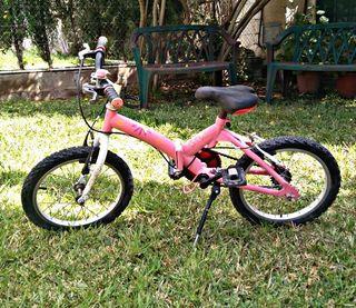 Bicicleta rosa 16 pulgadas