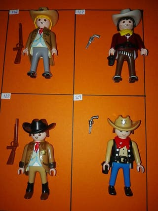 Playmobil figuras oeste cada número a 2,50€