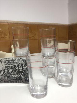 9 vasos vino La Campana