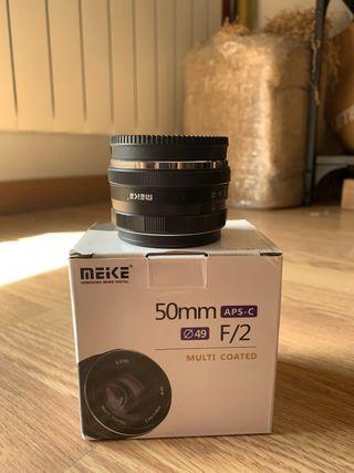 Meike 50mm F2 para Fujifilm