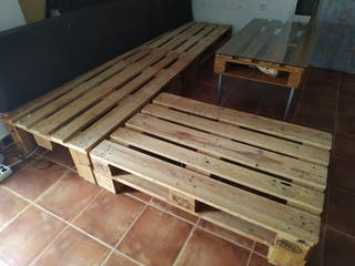 estructura sofa y mesa palets