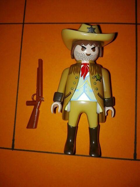 Playmobil figura con chequeta